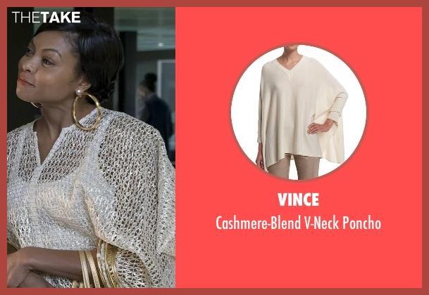 Vince beige poncho from Empire seen with Cookie Lyon (Taraji P. Henson)