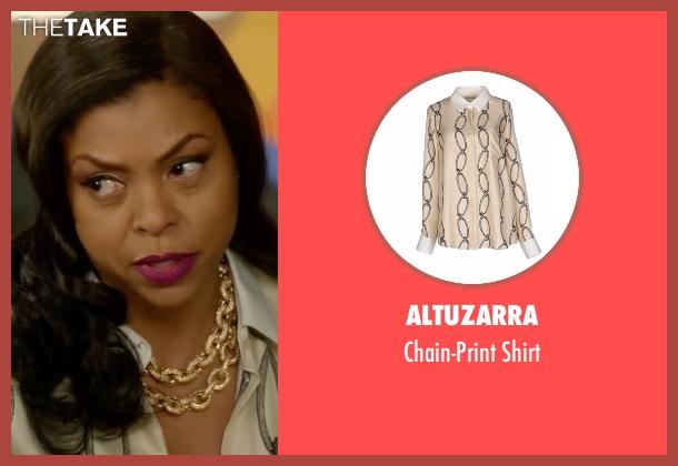 Altuzarra beige shirt from Empire seen with Cookie Lyon (Taraji P. Henson)