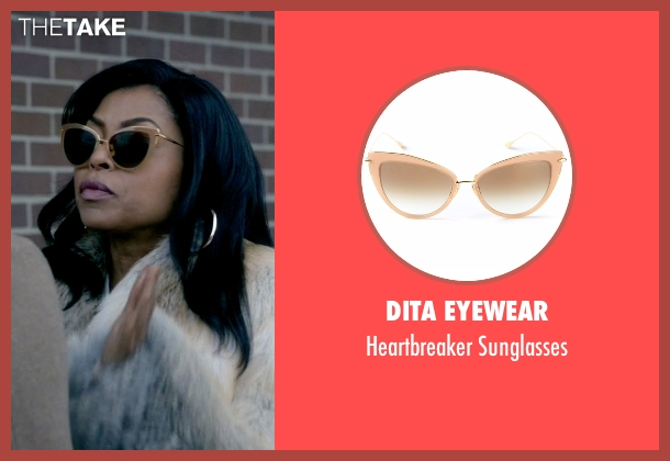 Dita Eyewear beige sunglasses from Empire seen with Cookie Lyon (Taraji P. Henson)