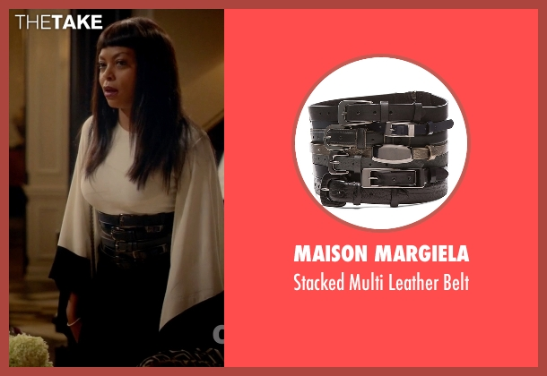 Maison Margiela black belt from Empire seen with Cookie Lyon (Taraji P. Henson)