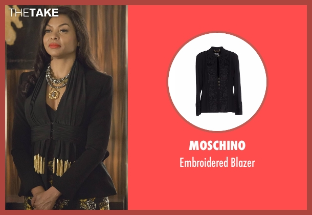 Moschino black blazer from Empire seen with Cookie Lyon (Taraji P. Henson)