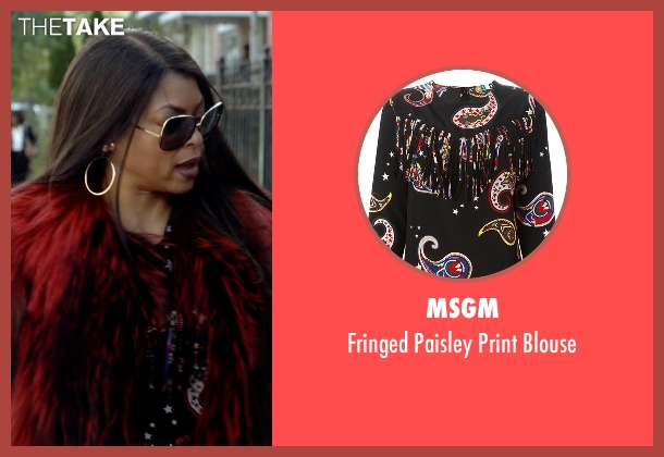 MSGM black blouse from Empire seen with Cookie Lyon (Taraji P. Henson)