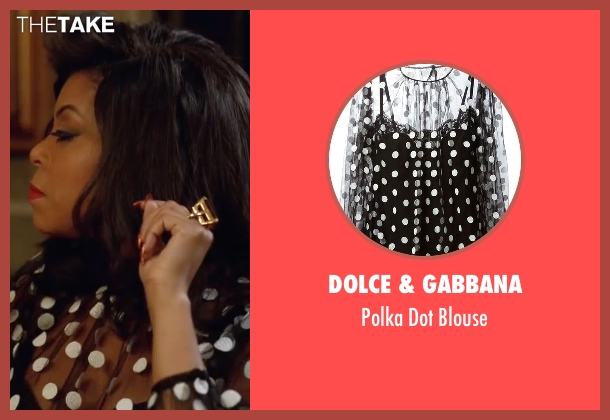 Dolce & Gabbana black blouse from Empire seen with Cookie Lyon (Taraji P. Henson)
