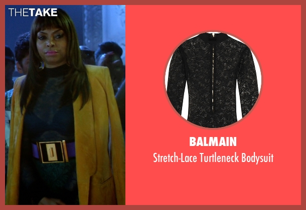 Balmain black bodysuit from Empire seen with Cookie Lyon (Taraji P. Henson)