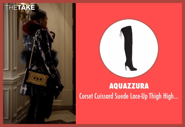 Aquazzura black boots from Empire seen with Cookie Lyon (Taraji P. Henson)