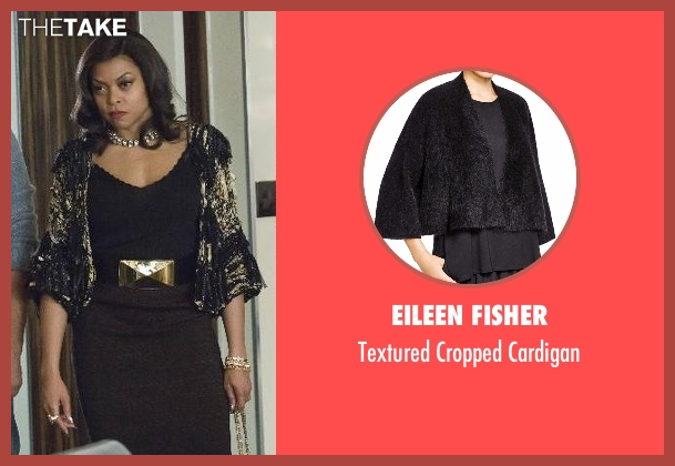 Eileen Fisher black cardigan from Empire seen with Cookie Lyon (Taraji P. Henson)