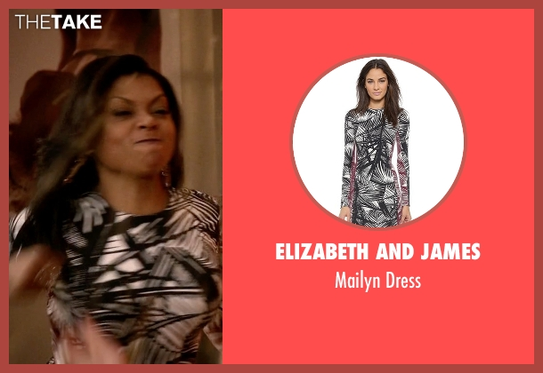Elizabeth and James black dress from Empire seen with Cookie Lyon (Taraji P. Henson)