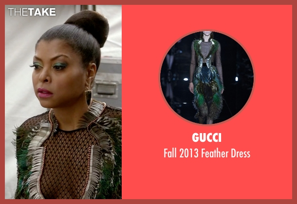 Gucci black dress from Empire seen with Cookie Lyon (Taraji P. Henson)