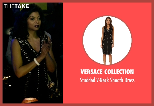 Versace Collection black dress from Empire seen with Cookie Lyon (Taraji P. Henson)