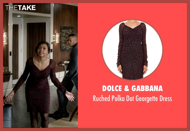 Dolce & Gabbana black dress from Empire seen with Cookie Lyon (Taraji P. Henson)