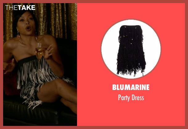 Blumarine black dress from Empire seen with Cookie Lyon (Taraji P. Henson)
