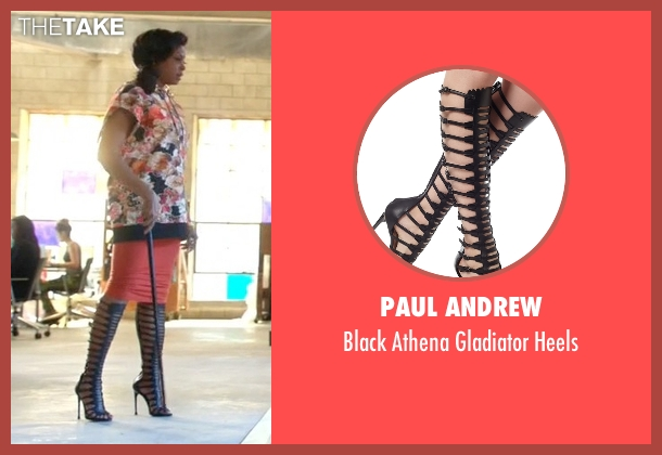 Paul Andrew black heels from Empire seen with Cookie Lyon (Taraji P. Henson)