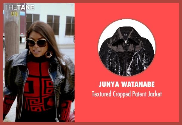 Junya Watanabe black jacket from Empire seen with Cookie Lyon (Taraji P. Henson)