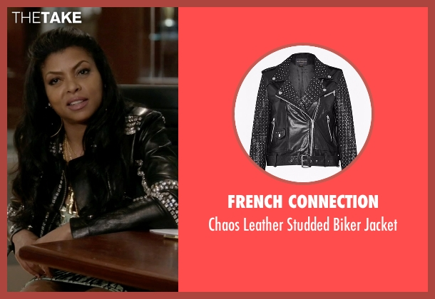 French Connection black jacket from Empire seen with Cookie Lyon (Taraji P. Henson)