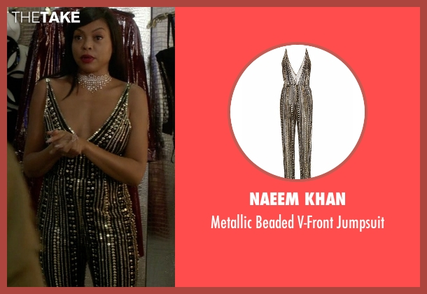 Naeem Khan black jumpsuit from Empire seen with Cookie Lyon (Taraji P. Henson)
