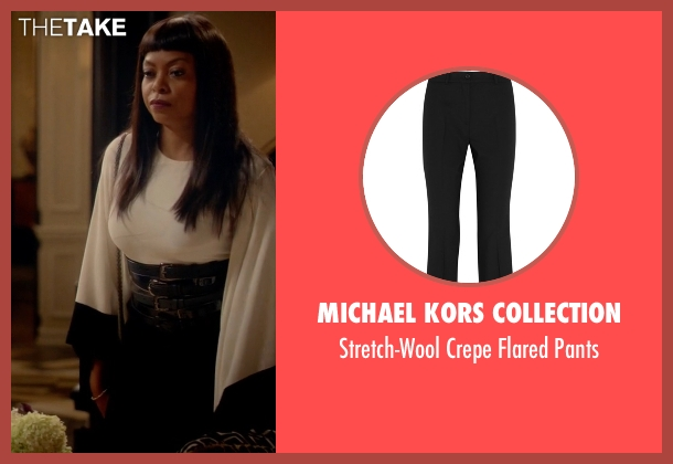 Michael Kors Collection black pants from Empire seen with Cookie Lyon (Taraji P. Henson)