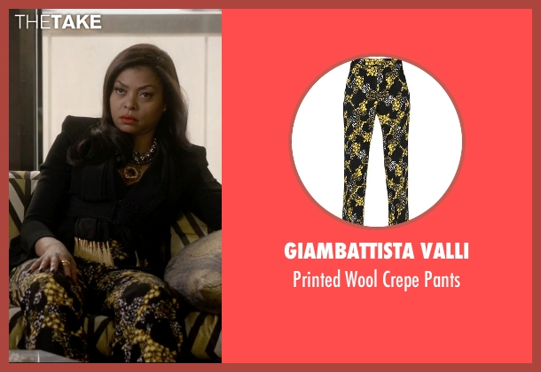 Giambattista Valli black pants from Empire seen with Cookie Lyon (Taraji P. Henson)