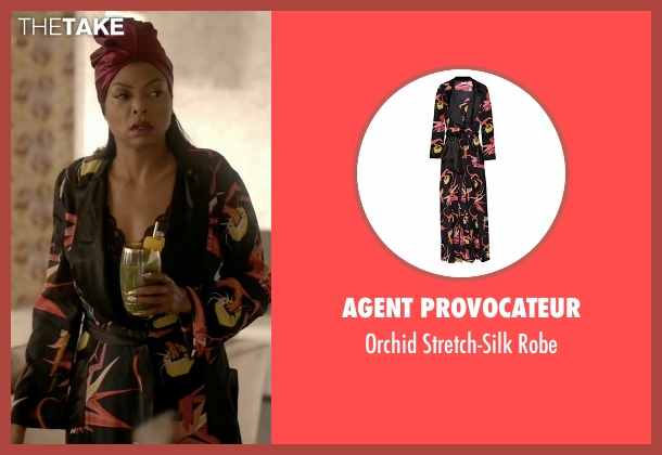 Agent Provocateur black robe from Empire seen with Cookie Lyon (Taraji P. Henson)
