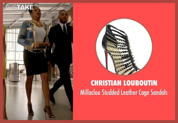 Christian Louboutin black sandals from Empire seen with Cookie Lyon (Taraji P. Henson)