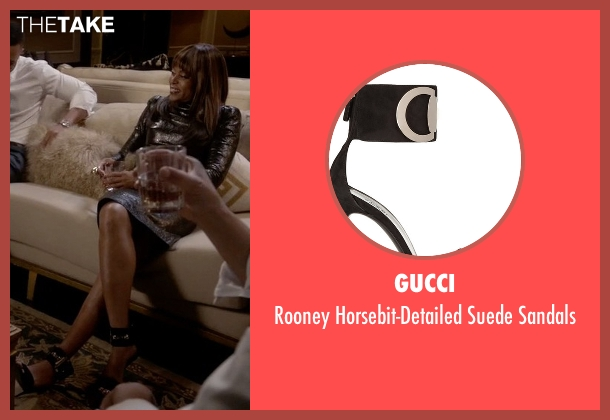 Gucci black sandals from Empire seen with Cookie Lyon (Taraji P. Henson)