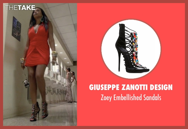 Giuseppe Zanotti Design black sandals from Empire seen with Cookie Lyon (Taraji P. Henson)