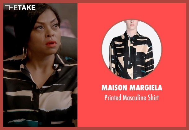 Maison Margiela black shirt from Empire seen with Cookie Lyon (Taraji P. Henson)
