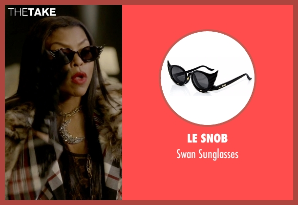 Le Snob black sunglasses from Empire seen with Cookie Lyon (Taraji P. Henson)