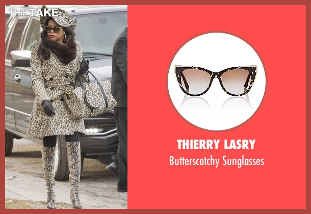 Thierry Lasry black sunglasses from Empire seen with Cookie Lyon (Taraji P. Henson)
