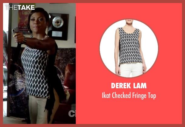 Derek Lam black top from Empire seen with Cookie Lyon (Taraji P. Henson)