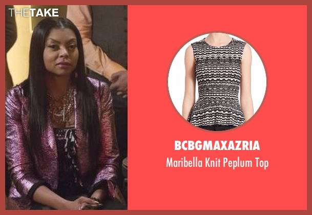 BCBGMAXAZRIA black top from Empire seen with Cookie Lyon (Taraji P. Henson)