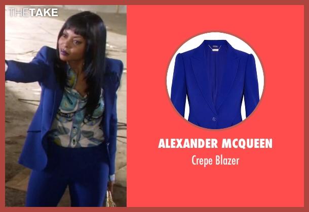 Alexander Mcqueen blue blazer from Empire seen with Cookie Lyon (Taraji P. Henson)