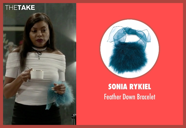 Sonia Rykiel   blue bracelet from Empire seen with Cookie Lyon (Taraji P. Henson)