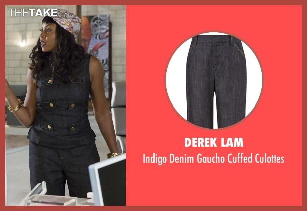 Derek Lam blue culottes from Empire seen with Cookie Lyon (Taraji P. Henson)