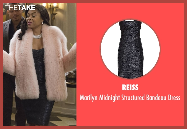 Reiss blue dress from Empire seen with Cookie Lyon (Taraji P. Henson)