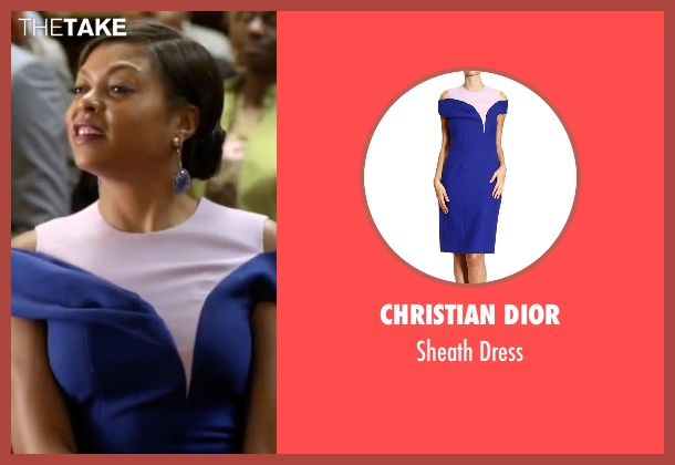 Christian Dior blue dress from Empire seen with Cookie Lyon (Taraji P. Henson)