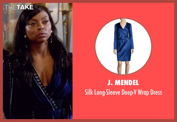 J. Mendel blue dress from Empire seen with Cookie Lyon (Taraji P. Henson)