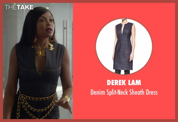 Derek Lam blue dress from Empire seen with Cookie Lyon (Taraji P. Henson)