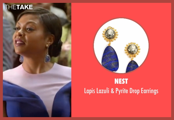 Nest blue earrings from Empire seen with Cookie Lyon (Taraji P. Henson)