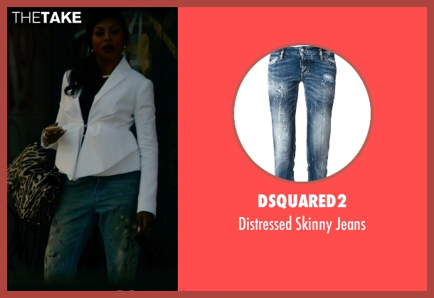DSquared2 blue jeans from Empire seen with Cookie Lyon (Taraji P. Henson)