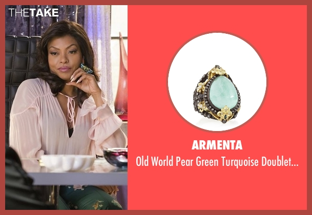 Armenta blue ring from Empire seen with Cookie Lyon (Taraji P. Henson)