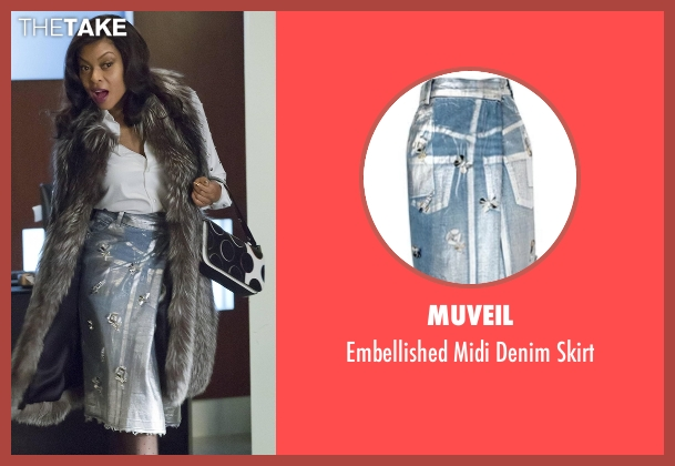 Muveil blue skirt from Empire seen with Cookie Lyon (Taraji P. Henson)