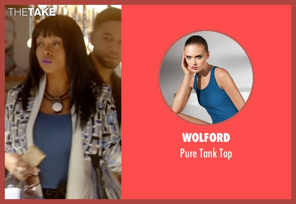 Wolford blue top from Empire seen with Cookie Lyon (Taraji P. Henson)