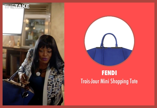 Fendi blue tote from Empire seen with Cookie Lyon (Taraji P. Henson)