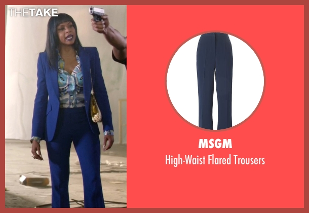 MSGM blue trousers from Empire seen with Cookie Lyon (Taraji P. Henson)