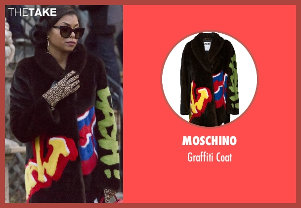 Moschino brown coat from Empire seen with Cookie Lyon (Taraji P. Henson)