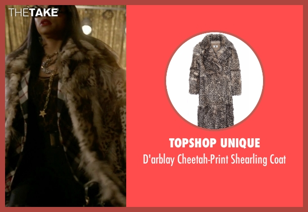 Topshop Unique brown coat from Empire seen with Cookie Lyon (Taraji P. Henson)