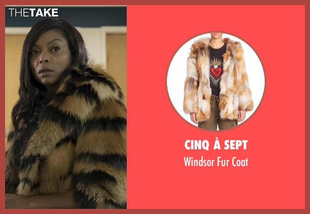 Cinq à Sept brown coat from Empire seen with Cookie Lyon (Taraji P. Henson)