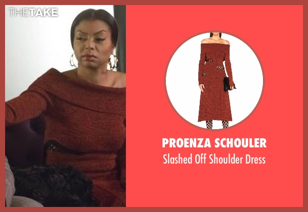 Proenza Schouler brown dress from Empire seen with Cookie Lyon (Taraji P. Henson)