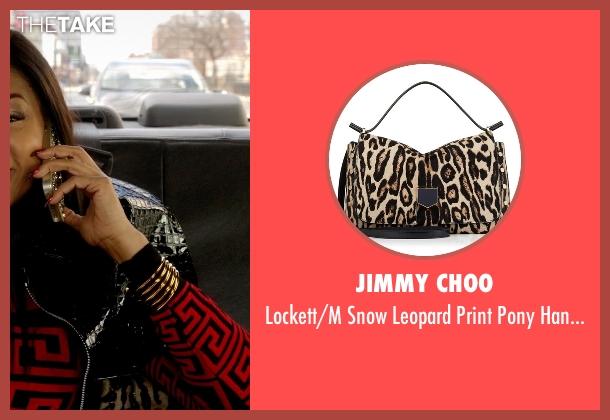 Jimmy Choo brown handbag from Empire seen with Cookie Lyon (Taraji P. Henson)