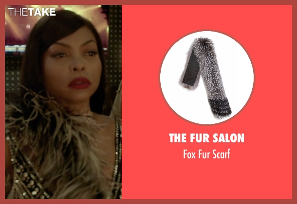 The Fur Salon brown scarf from Empire seen with Cookie Lyon (Taraji P. Henson)